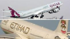 Aerolíneas Etihad Airways y Qatar Airways suspenden sus vuelos a Catar