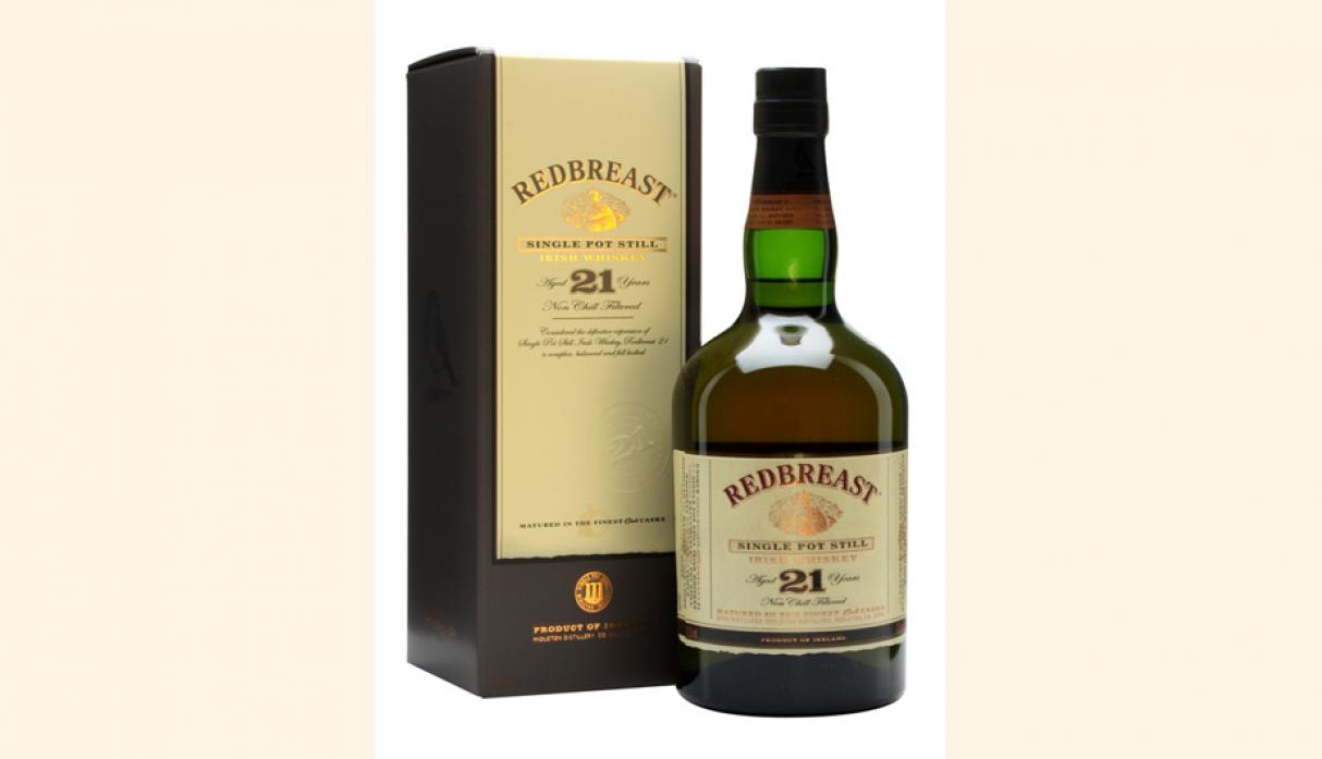 Mejor Whisky Irlandés: Redbreast 21 años. (Foto: The whisky Exchange)