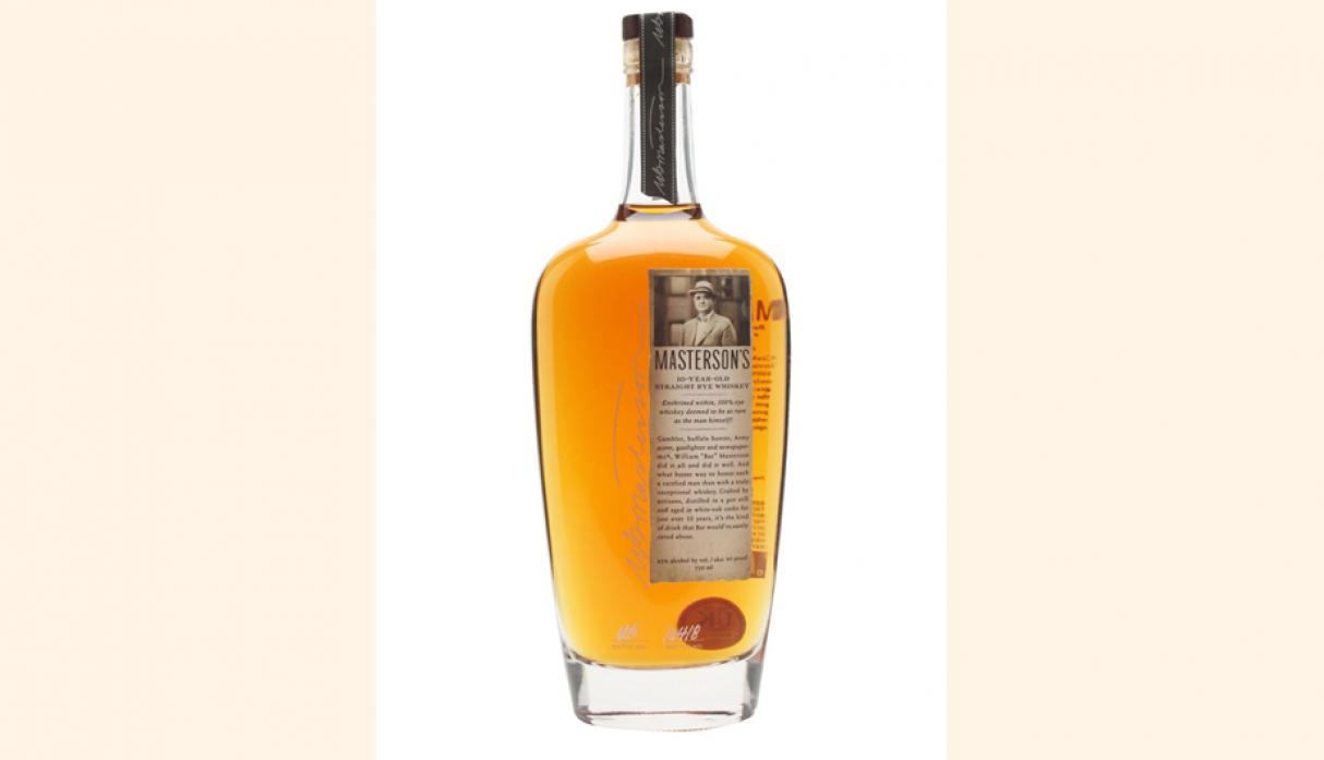 Mejor Whisky Canadiense: Masterson's 10 Year Old Straight Rye. (Foto: The whisky Exchange)
