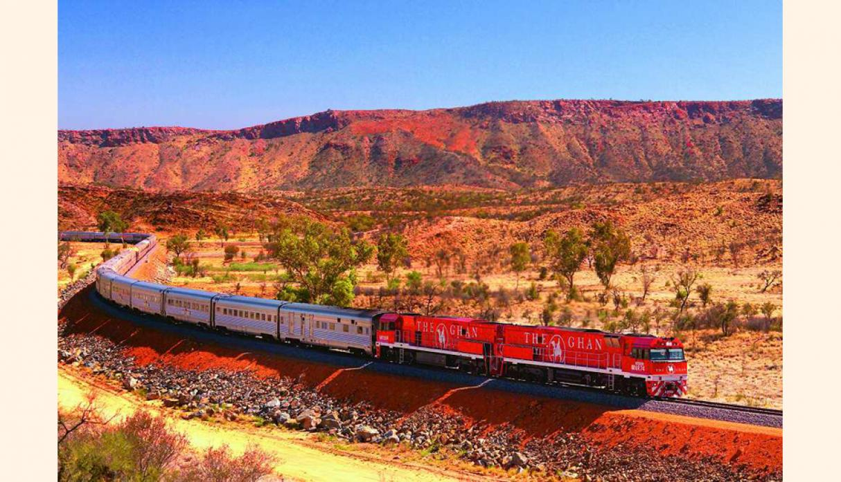 The Ghan, Great Southern Rail (Australia). (Foto: visualitineraries)