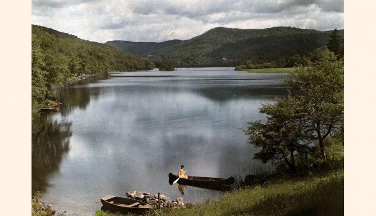 Lago de Vermont en 1927; National Geographic archives.(foto:msn).
