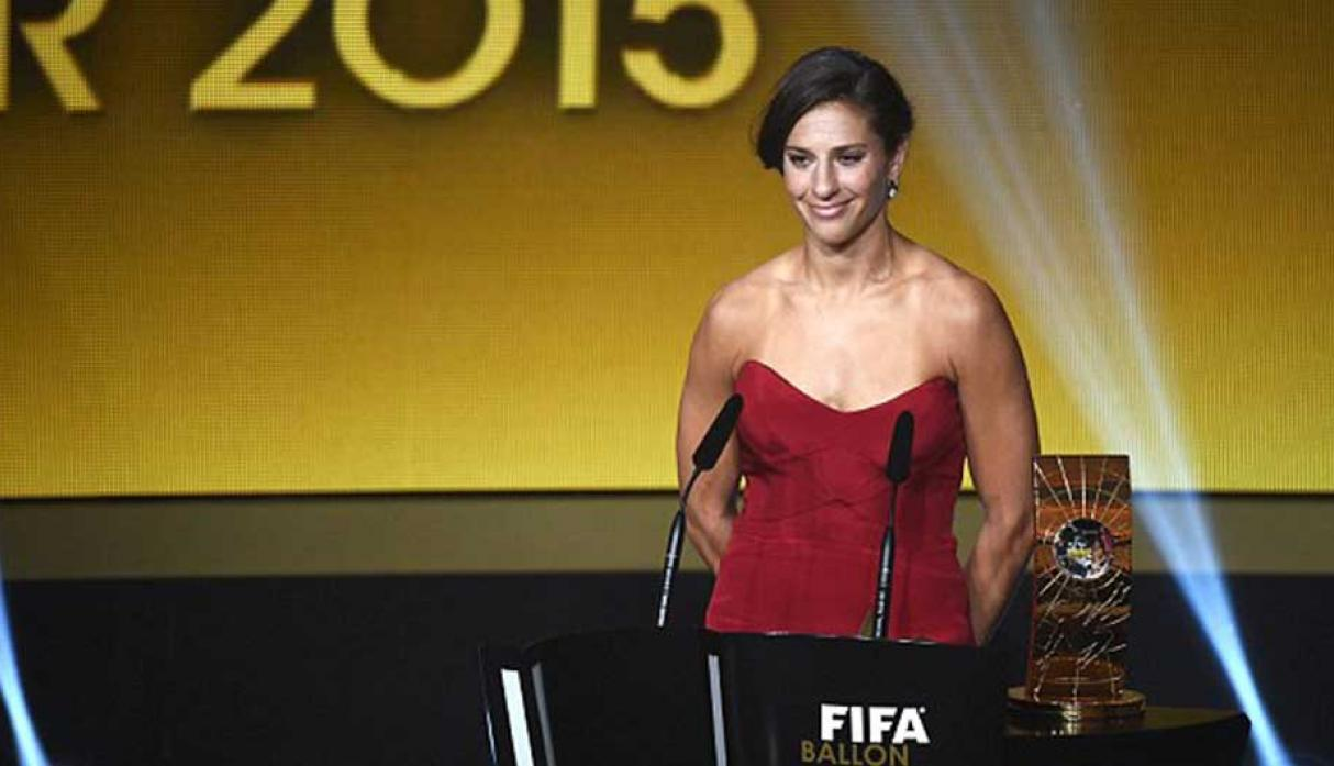 Premio FIFA The Best a la mejor jugadora: Carli Lloyd (Estados Unido) (Foto: Getty)