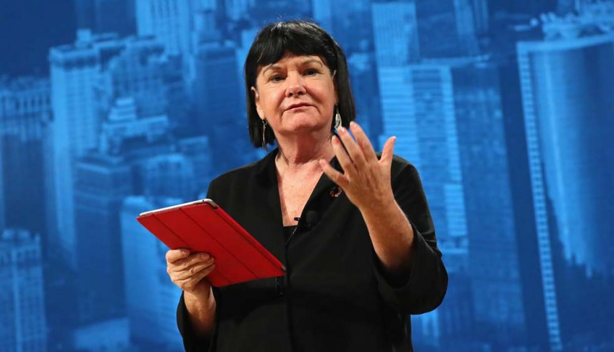FOTO 7 | Sharan Burrow, secretaria general de la Confederación Internacional de Sindicatos (CIS). (Foto: AFP)