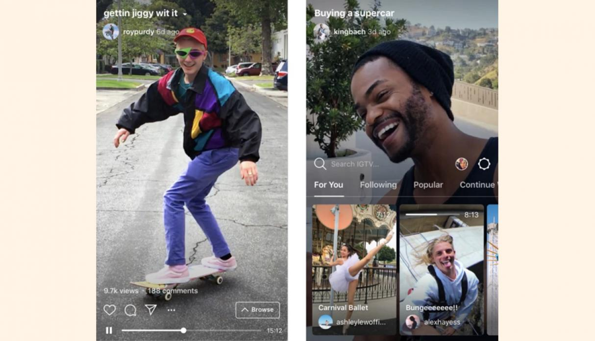 Instagram lanza aplicación de video de formato largo