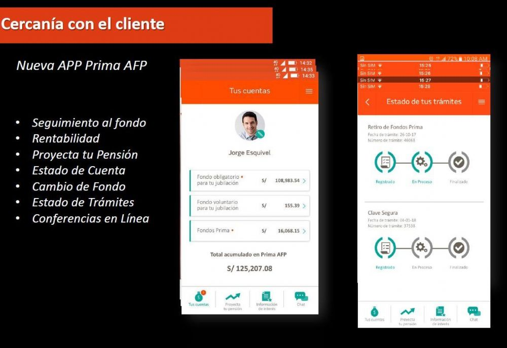 APP movil de Prima AFP